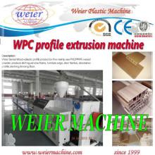 Chaîne de production en plastique en bois de profil de pp de pp (WPC) de 15 ans d'usine