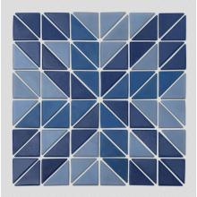 Blue triangle art wall tiles for swimming pool
