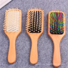 Cepillo de pelo de madera de la etiqueta privada profesional barata del cepillo de pelo de la marca de fábrica de FQ