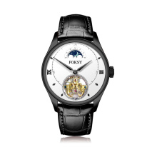 Marca rápida personalizada seu logotipo Men Tourbillon Automatic Watch