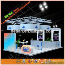Portable and modular stalls exhibition display with folding table from shanghai China