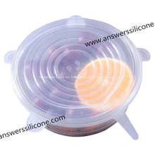 Tapas de frutas de caucho de silicona de botella de taza a medida