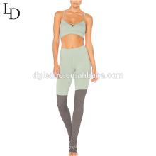 Novo design calças longas yoga roupas mulheres sexy apertado yoga ternos
