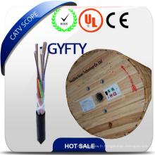 Câble fibre optique extérieur non métallique GYFTY