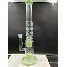 Huge Glass bongs with two birdcage percolators