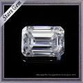 1.5 Carat 7.5X5.5mm Wonderful Emerald Cut F Color White Moissanite Stones