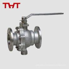 Нержавеющая сталь cf8m Фланцевый наконечник шаровой клапан