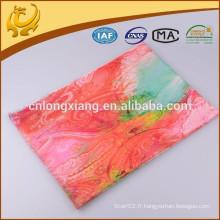Fashion Popular 100% Matériel en laine Hot Print Echarpe en plume