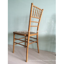 Cixi yongye factory PP steel stacking gold resin chiavari chair