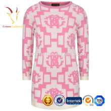 Intarsia - Robe col rond en cachemire