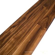 Revestimento de madeira maciça pré-acabado de acácia