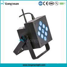 Luzes de controle remoto sem fio a pilhas internas de 9X10W DMX512