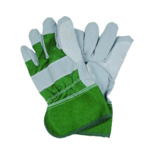 Imitate Skin Work Green Cotton Cow Split Glove