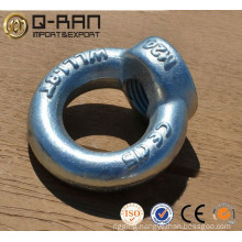 Galvanized drop forged eye nut DIN582