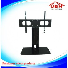 Aluminum Tube and Tempered Glass Mini TV Stand