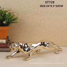 Moderne Tier Skulptur Harz kleine Leopard Statue für Büro Dekor