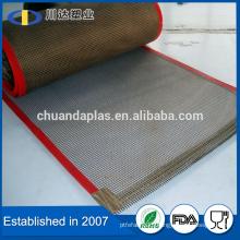 One piece customized China Ptfe coated fiberglass 4mm*4mm Non-stick conveyor belt                                                                         Quality Choice