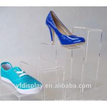 Affichage de chaussures personnalisé acrylique transparent
