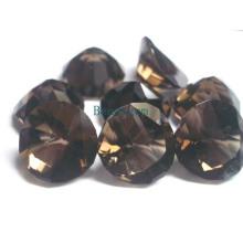 Piedras preciosas - cuarzo ahumado para joyería fijada (SMK003)