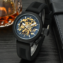 oem sapphire crystal automatic skeleton mechanical watch