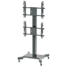 "Public Floor TV Stand Wheelbase Dual Screens 30-60"" (AVA 201F)"