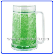 500ml Beer Cold Plastic Double Wall Ice Frozen Mug (R-7004)
