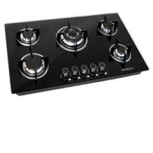 Tempered Glass 5 Burners Buit-in Gas Cooktop, Gas Cooker