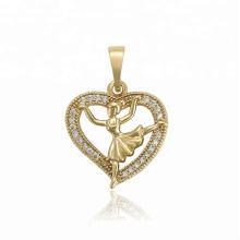 34500 XUPING fashion Pendentif en forme de coeur de petite fille en forme de coeur en or 14K synthétique