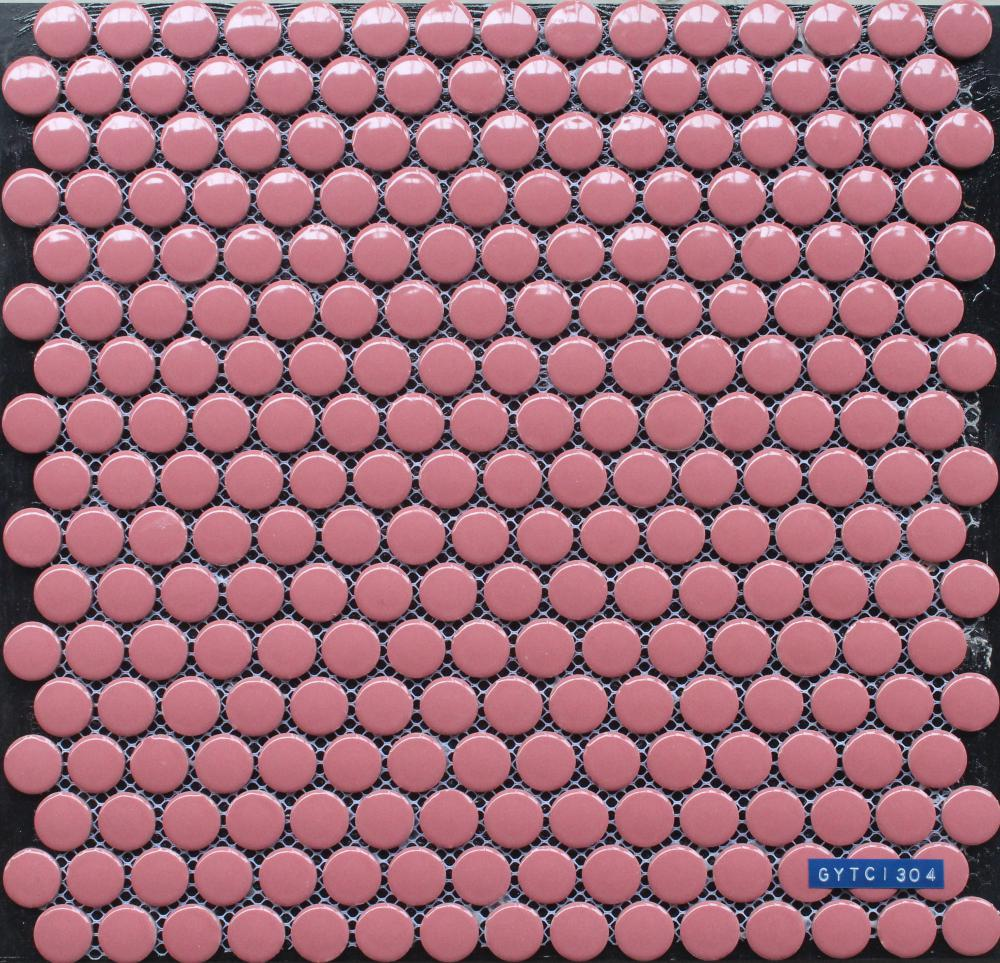 Pink Glazed Polished Porcelain Mosaic