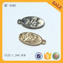 MC640 Oval logo tag ropa joyería encantos al por mayor