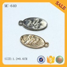 MC640 Oval logo tag clothing jewelry charms wholesale