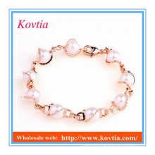 New product cheap wholesale pearl bracelet personalized for girl