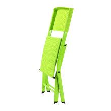 Comfortable Metal Legs Plastic Folding Chair for Garden Outdoor