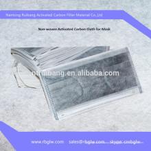 máscara de filtro de carbón activado material de máscara de fabricación PM2.5 / N95