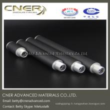 Tube de fibre de carbone d'armure 3K pour la clé de tempérament de piano, clé d'accord de piano de fibre de carbone