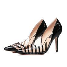 Китай лакированной кожи женщины мода обувь леди высокие каблуки