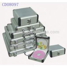 boîte CD de haute qualité CD 32 disques en aluminium vend en gros fabricant, Chine