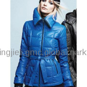 Goose feather leather jacket 2013women