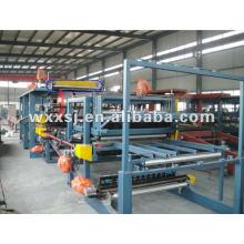 Cadena de producción máquina de panel de emparedado de lana de lana de roca/roca
