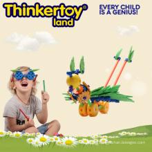 Bloques de construcción de plástico intelectual de forma personalizada de juguete