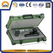 Aluminum Double Pistol Weapon Case with Metal Corners
