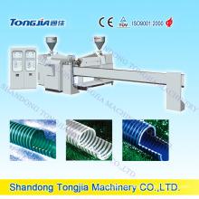 Línea plástica de la manguera espiral de la costilla de PVC de la máquina