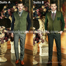 Top Brand Coat Pant Men Suit Design 2014 Stylish Contrast Color Buttons Pockets Business Men Suits Made In China NB0582