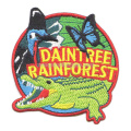 Rainforest Butterfly and Alligator Embroidered Badges