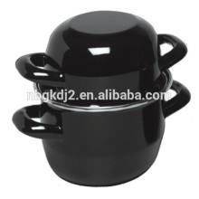 Стиль живота черной эмалью мидий кастрюлю 2 литра, 18X12CM