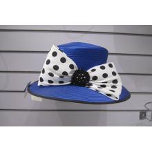 Sombreros de iglesia formales de cinta de raso Big Brim para mujer