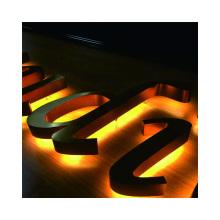 Custom LED Brushed Back Halo Lit Channel Letter Shop Name LOGO Exterior Lighted  Business Advertisement Sign