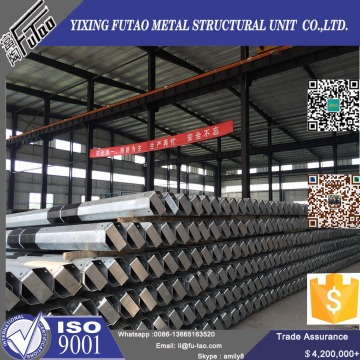 Galvanized Transmission Line Steel Pole