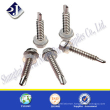 China manufacturer stainless steel zinc plated hex flange screw