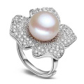 Wholesale 925 Silver Ring with Pearl Silver Jewelry